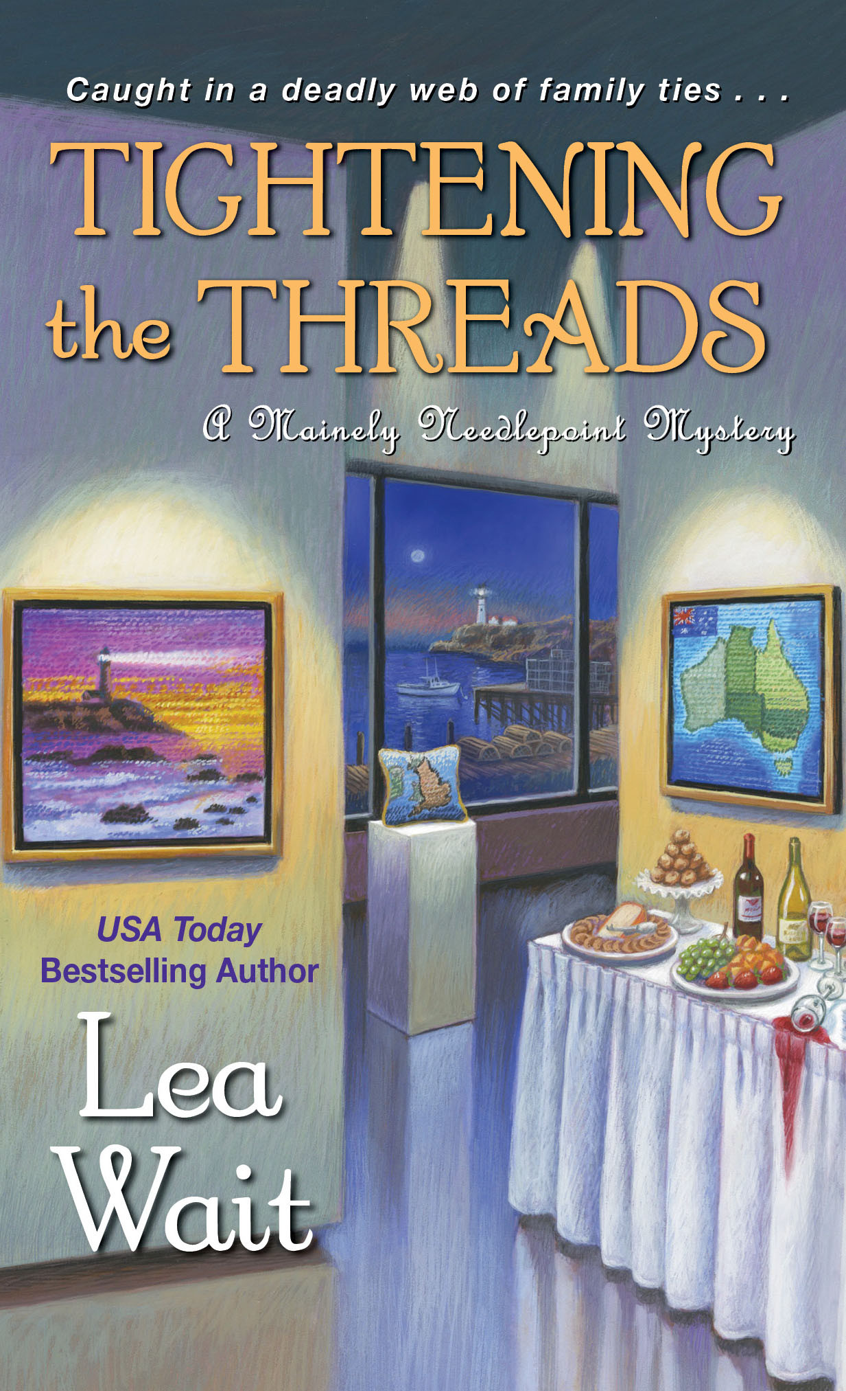 A Mainely Needlepoint Mystery: Tightening the Threads